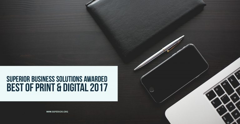 Superior Business Solutions Wins Best of Print and Digital 2017